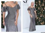 Это обольстительное платье из люрекса позволит стать королевой на вечернем торжестве или ужине в ресторане.