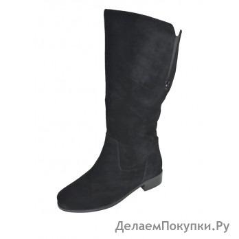 W21034-1 Сапоги жен черн нат замш байка 35-40 полнота 10