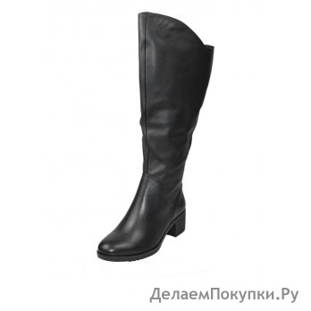 W20836 Сапоги жен черн нат кож байка 35-40 полнота 10