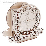 "Чайный домик из фанеры ""Часы"" (набор 7 деталей) 26х23х10,5 см"