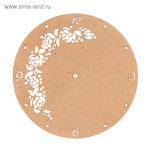 """Основа для часов """"Цветочный узор"""" №13 из МДФ 25х25 см LH011775 2 ШТУКИ"""