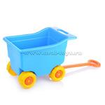 Тележка для игрушек на колесах большая (голуб.)