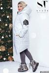 Стильное пальто с выразительной асимметрией подола 42-56 р