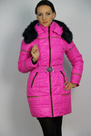 Куртка утепленная Плащевка Малиновый
