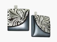 Монро Серьги из серебра 925 пробы с нанокерамическим покрытием