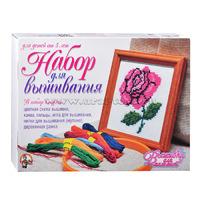 Набор для вышивания Роза с рамкой