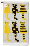 """Полотенце """"Кошки 1 желтые"""" 25х50 см (1 шт.)"""
