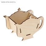 """Заготовка для декупажа """"Шкатулка для чайных пакетиков в виде чайника"""" 18 х 13 х 9 см 2 ШТУКИ"""