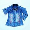 Рубашка джинсовая дев.+вышивка