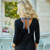 Платье с завязкой на спине и лампасами