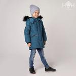 Куртка зимняя, индиго, искусственный черный р-р 92-128