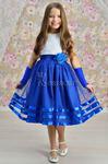 Платье нарядное для девочки арт. ИР-908, цвет электрик/белое кружево