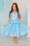 Платье нарядное для девочки арт. ИР-908, цвет голубой