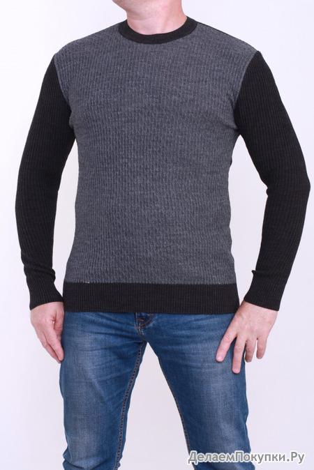 Свитер 14265 т. серый/ черный