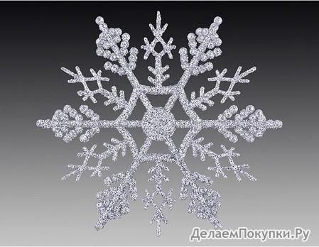 Снежинка декоративная (диаметр 10 см)