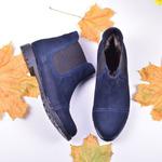 Женские ботинки из нубука укороченные (байка/экомех/цигейка - на выбор)