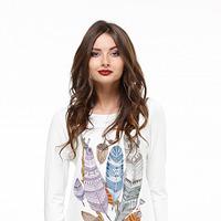 Блуза с удлинёнными бочками