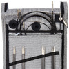 Knit Pro Karbonz Interchangeable Needle Starter Set, Black and Grey fabric Case