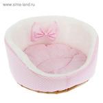 Лежанка для котят и щенков, 35 х 14 см, розовая