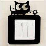 Декоративная рамка на выключатель Котик