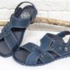 Мужские сандалии-шлепки из нубука С-12