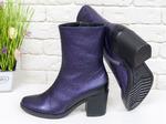 Женские ботинки на среднем каблуке, из натуральной кожи Б-17456/2-01