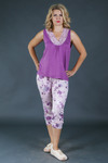 Пижама женская Оттенки фламинго №7 (майка+бриджи)