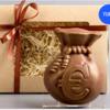 шоколадная плитка Мешочек с Евро