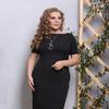 Платье Тюссо черное с украшением