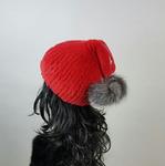 """Меховая шапка """"Буратинка"""" цвет красный , кролик рекс Подробнее: https://xn-----7kcgobxpmiohaje2czb8cyc.xn--p1ai/p324369251-mehovaya-shapka-buratinka.html"""