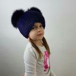 """Детская меховая шапка """" Тигрик """" мех ондатра, цвет фиолетовый Подробнее: https://xn-----7kcgobxpmiohaje2czb8cyc.xn--p1ai/p342036615-detskaya-mehovaya-shapka.html"""