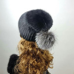 """Меховая шапка """"Сноп-Ермолка"""" мех ондатра , цвет черный Подробнее: https://xn-----7kcgobxpmiohaje2czb8cyc.xn--p1ai/p327998904-mehovaya-shapka-snop.html"""
