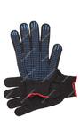 Перчатки рабочие с ПВХ 10-й класс чёрные 4-х нитка (Точка)