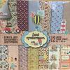 Набор бумаги для скрапбукинга ''Давай путешествовать'',12л СКБ-003