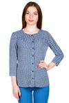 Блуза Отрезная кокетка со складками