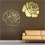 Наклейка зеркальная Розы