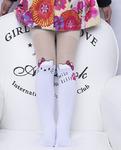 Детские колготки капроновые Hello Kitty с лапкой, белые