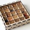 Набор минералов 36 шт, в деревянной коробке20х30