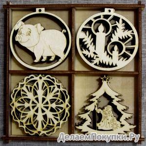 Скоро Новый год!!! Оригинальные сувениры и елочные урашения из дерева.