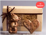 Набор Мишка + Сердце с бабочками