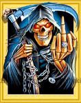 Алмазная вышивка «смерть с косой»