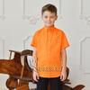 Рубашка короткий рукав, хлопок, цвет оранж