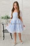 """Платье нарядное для девочки """"Фонарик"""", цвет голубой"""