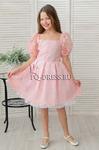 """Платье нарядное для девочки """"Фонарик"""", цвет персик"""