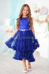 Платье нарядное со съемной юбкой арт. ИР-1705, цвет электрик