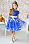 Платье нарядное для девочки арт. ИР-1517, цвет электрик