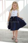 Платье нарядное для девочки арт. ИР-036-1, цвет темно-синий