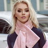 Оригинальный теплый шарф с фиксатором