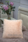 Подушка Искусственный мех (розовый беж)