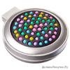 Расческа складная с зеркалом и цветными зубчиками, пластик, стекло, d6,5см, 1 цвет 356-585